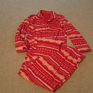Cat & Jack fleece winter pajamas, size 6/6x